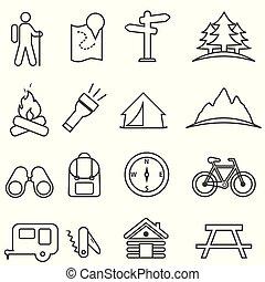 Povolení, tábořiště, rekreace a vnější aktivity, které jsou nastaveny