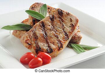 povolení, vepřové maso