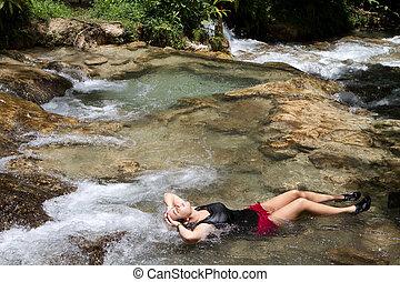 povolit, turista, jamaica