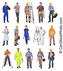 Průmyslové stavební dělníky