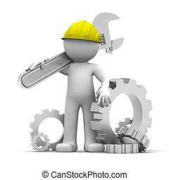 průmyslový dělník, překroutit, 3