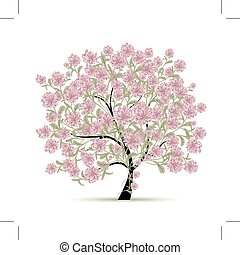 pramen, design, květiny, strom, tvůj