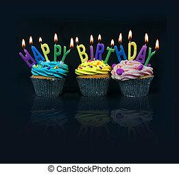 pravopis, cupcakes, aut, narozeniny, šťastný