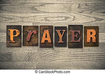 Prayerský typ, dřevěný typ