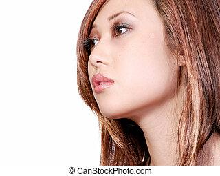 profil, manželka, asijský