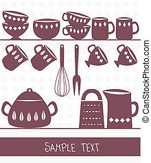 proložit, text, nožířství, ilustrace, kuchyňská potřeba, kuchyně
