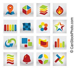 proměnlivý, obklad, abstraktní, emblém