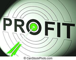 prospěch, obchodovat, zdar, povolání, ukazuje