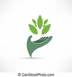 prostředí, ekologické, ikona