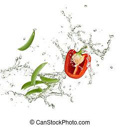 prostořeký hrách, paprika
