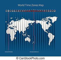 pruh, společnost, čas, mapa