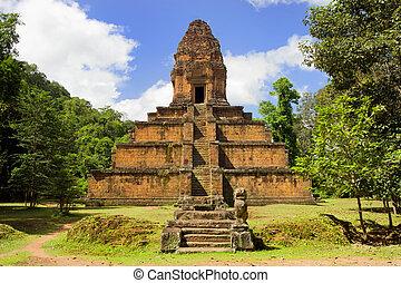 pyramida, chrám, kambodža