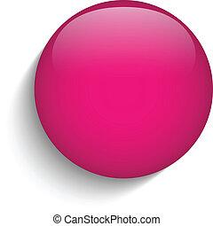 Růžový kruhový knoflík ikon