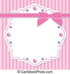 Růžový rám s lukem