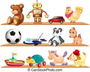 Různé hračky