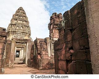 ratchasima, phimai, nakhon, sad, (prasat, historický, thajsko, hin, pimai)