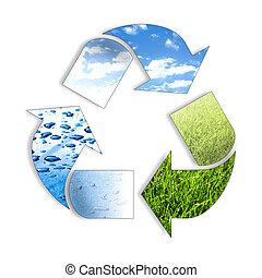 recycl, tři, pralátka, ing, znak