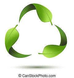 Recyklační symbol s listem