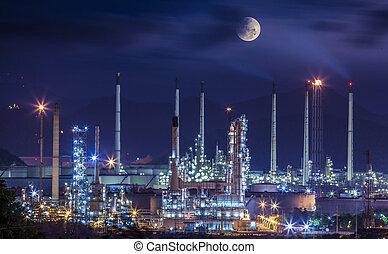 Refinerční průmyslová továrna