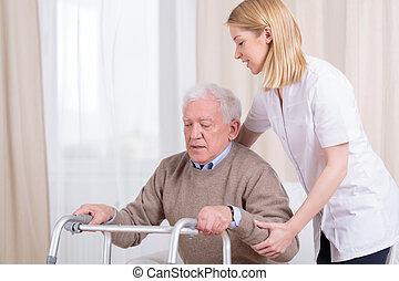 Rehabilitace v domově důchodců