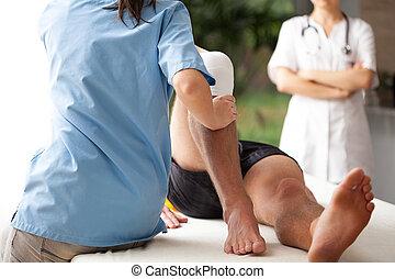 Rehabilitace zlomené nohy