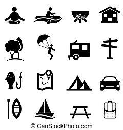 Rekreace, aktivity a volné ikony