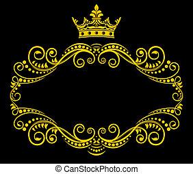 Retro s královskou korunou