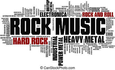 Rock Music styles, slaný zvukový vektor