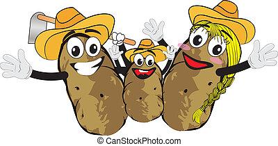 rodina, brambor