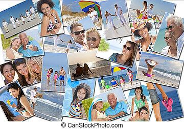 rodina, národ, muži, prázdniny, dovolená, děti, ženy