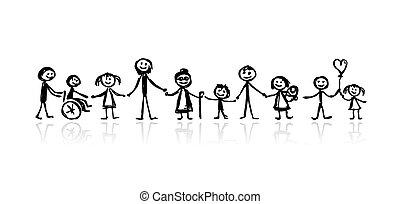 Rodinný náčrtek pro tvůj návrh