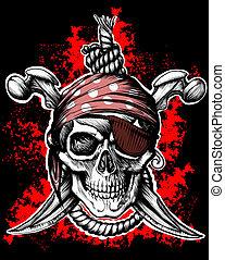 roger, znak, pirát, příjemný