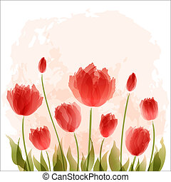 Romantické pozadí s kvetem