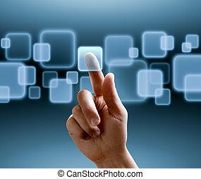 rozhraní, touchscreen