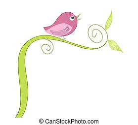 Roztomilá zpívající pták