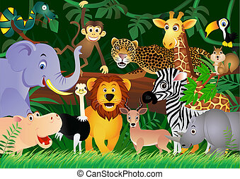 Roztomilé zvíře v džungli
