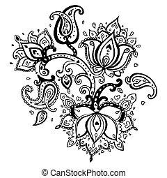 Ruční ozdoba, kterou nakreslila brokovnice.