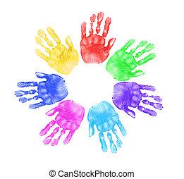 Ruce dětí ve škole