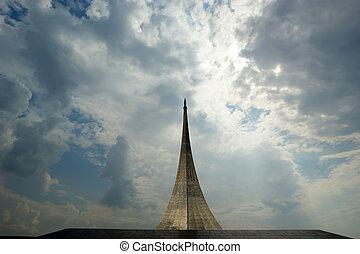 Rusko, mokro, památník podmanů vesmíru.