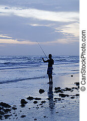 rybaření, moře