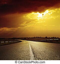 Rychlá cesta k dramatickému západu slunce