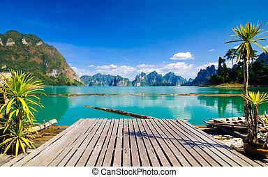 sad, sok, khao, národnostní, thajsko