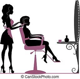 salon, kráska