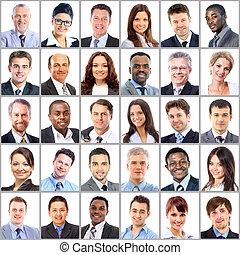 Sběr portrétů obchodních lidí