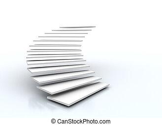 schody, grafické pozadí, osamocený, neposkvrněný