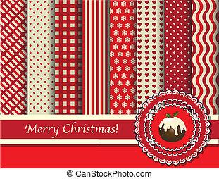scrapbooking, vánoce, červeň, krém
