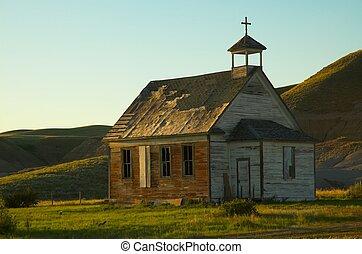 selský, dávný přivést do kostela