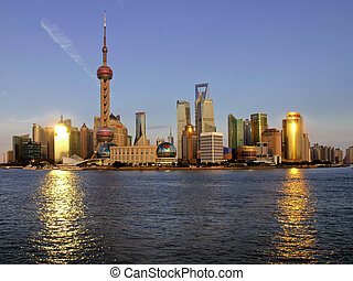 shanghai, pudong, čína