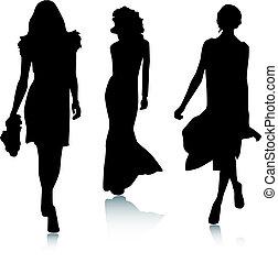 Silhouette módní ženy