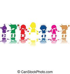 Silhouety dětí